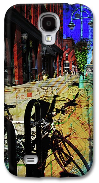 3rd Ward Bicycle Abstract Map Galaxy S4 Case
