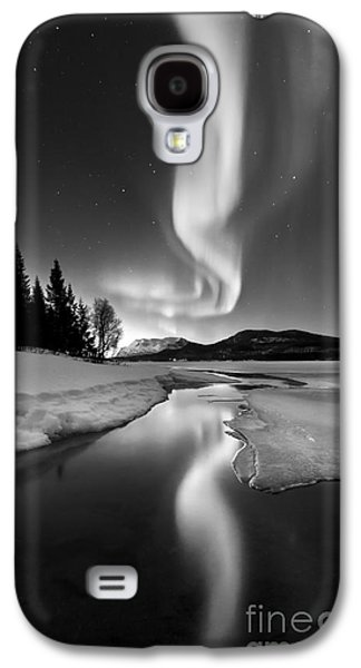 No People Photographs Galaxy S4 Cases - Aurora Borealis Over Sandvannet Lake Galaxy S4 Case by Arild Heitmann