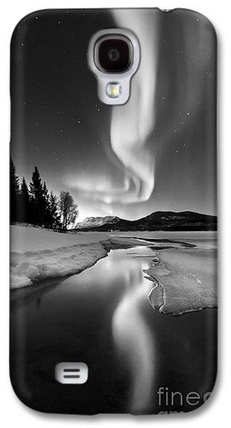 Aurora Borealis Over Sandvannet Lake Galaxy S4 Case by Arild Heitmann
