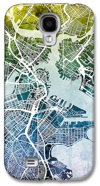 Boston Massachusetts Street Map Galaxy S4 Case