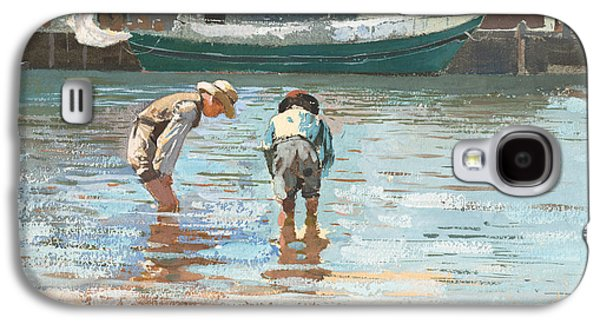 Boys Wading Galaxy S4 Case by Winslow Homer