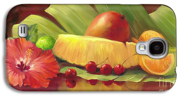 4 Cherries Galaxy S4 Case by Laurie Hein