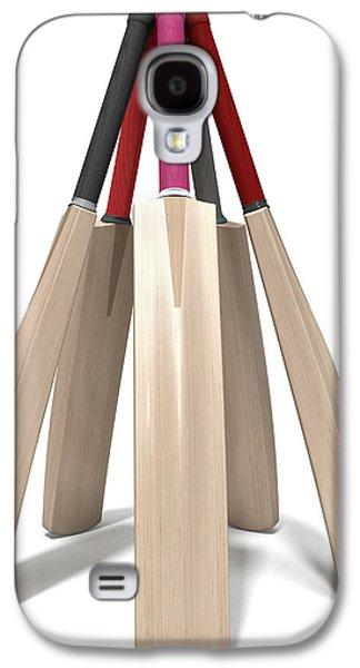 Cricket Bat Circle Galaxy S4 Case by Allan Swart