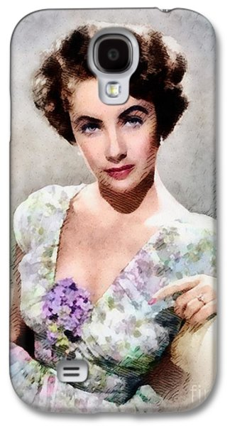 Elizabeth Taylor, Vintage Hollywood Legend Galaxy S4 Case by John Springfield