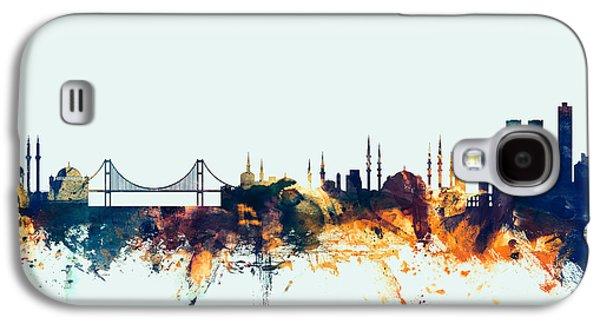 Istanbul Turkey Skyline Galaxy S4 Case by Michael Tompsett
