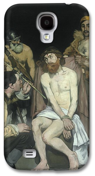 Jesus Mocked By The Soldiers Galaxy S4 Case by Edouard Manet