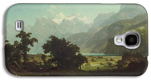 Lake Lucerne Galaxy S4 Case by Albert Bierstadt