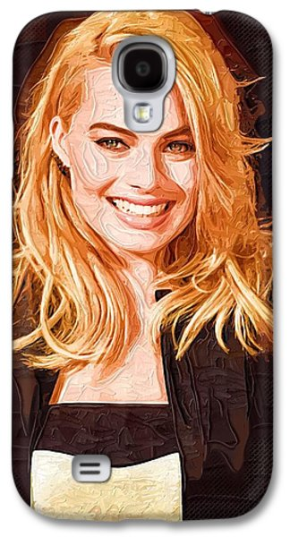Margot Robbie Painting Galaxy S4 Case by Best Actors