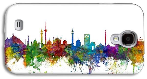 New Delhi India Skyline Galaxy S4 Case by Michael Tompsett