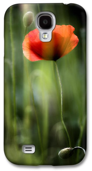 Poppy Galaxy S4 Case by Silke Magino