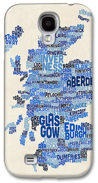 Scotland Typography Text Map Galaxy S4 Case