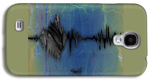 Smile Sound Wave Galaxy S4 Case by Marvin Blaine