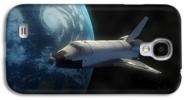 Space Shuttle Backdropped Against Earth Galaxy S4 Case by Carbon Lotus