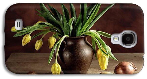 Potato Galaxy S4 Case - Still Life With Tulips by Nailia Schwarz