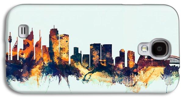 Sydney Australia Skyline Galaxy S4 Case by Michael Tompsett