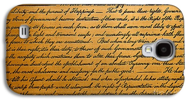 The Declaration Of Independence  Galaxy S4 Case by American School