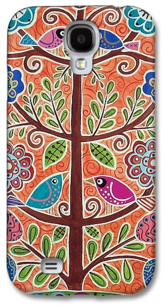 Abstract Prints For Sale Paintings Galaxy S4 Cases - 4 Tree Birds Galaxy S4 Case by Karla Gerard