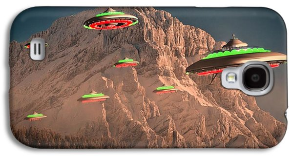Ufo Invasion Force By Raphael Terra Galaxy S4 Case by Raphael Terra
