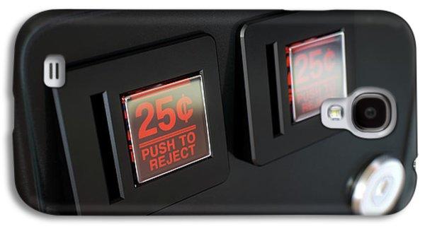 Arcade Machine Coin Slot Panel Galaxy S4 Case by Allan Swart