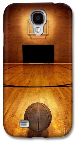 Basketball And Basketball Court Galaxy S4 Case by Lane Erickson