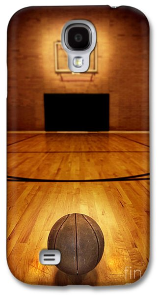 Basketball And Basketball Court Galaxy S4 Case by Lane Erickson