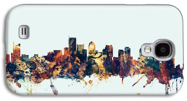 Boston Massachusetts Skyline Galaxy S4 Case by Michael Tompsett