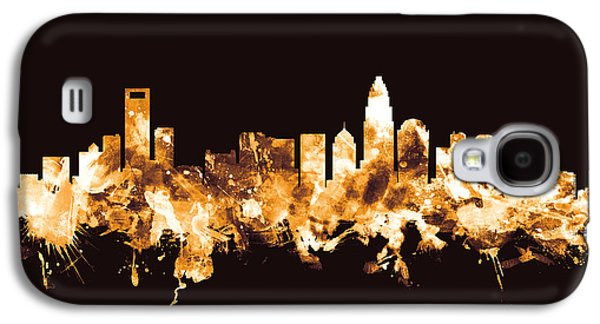 Charlotte North Carolina Skyline Galaxy S4 Case by Michael Tompsett
