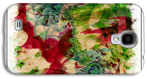 Flowers Galaxy S4 Case by Contemporary Art