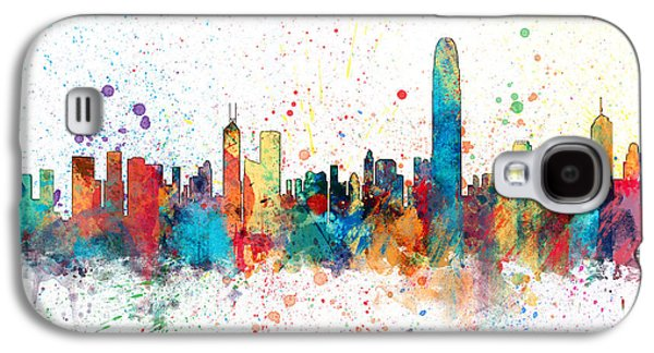 Hong Kong Skyline Galaxy S4 Case by Michael Tompsett