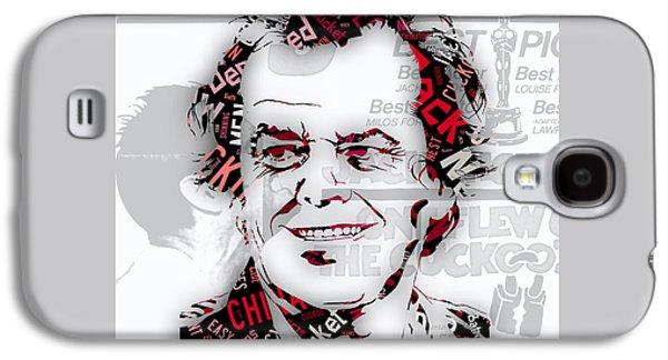 Jack Nicholson Movie Titles Galaxy S4 Case by Marvin Blaine