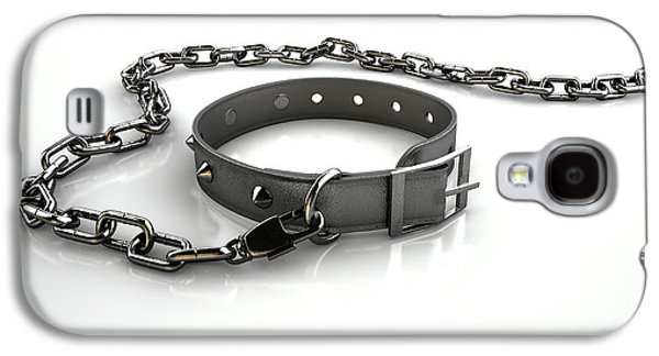 Leather Studded Collar And Chain Galaxy S4 Case