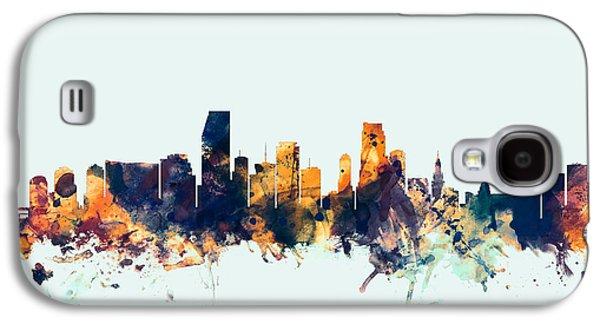 Miami Florida Skyline Galaxy S4 Case by Michael Tompsett