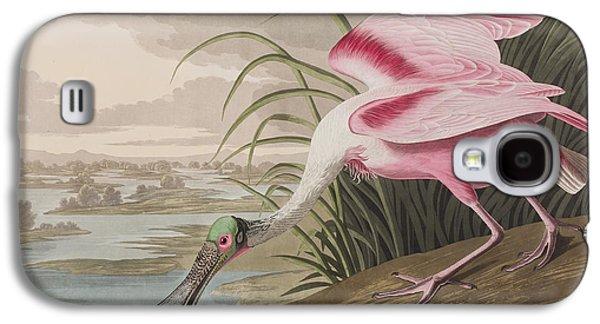 Roseate Spoonbill Galaxy S4 Case by John James Audubon