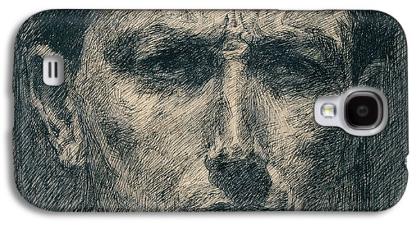 Self Portrait Galaxy S4 Case by Umberto Boccioni