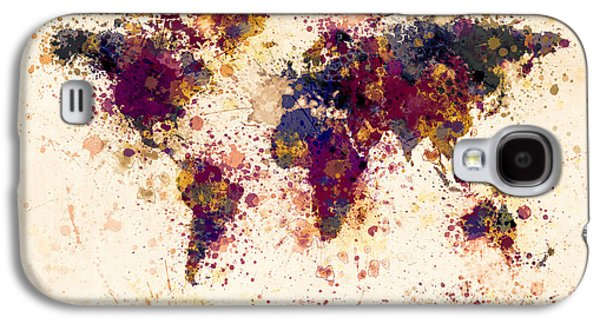 World Map Paint Splashes Galaxy S4 Case
