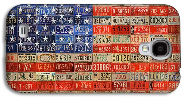 50 Plates One Union Recycled License Plate American Flag Galaxy S4 Case