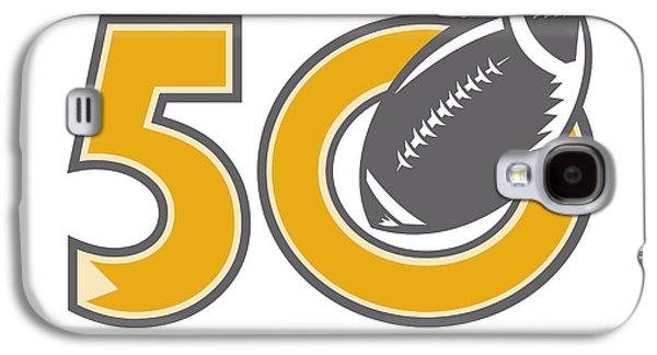 50 Pro Football Championship Ball Galaxy S4 Case by Aloysius Patrimonio