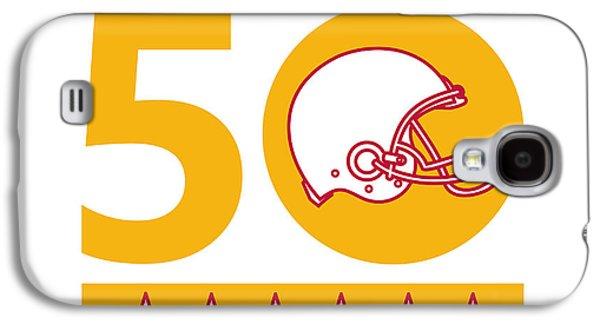 50 Pro Football Championship Sunday Helmet Galaxy S4 Case by Aloysius Patrimonio