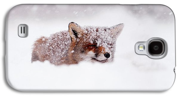 50 Shades Of White And A Touch Of Red Galaxy S4 Case by Roeselien Raimond