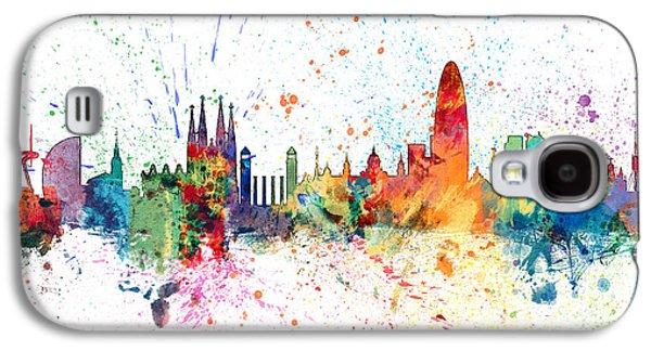 Barcelona Spain Skyline Galaxy S4 Case