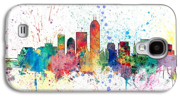 Indianapolis Indiana Skyline Galaxy S4 Case by Michael Tompsett
