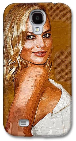 Margot Robbie Art Galaxy S4 Case by Best Actors