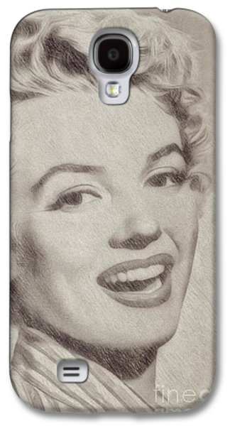 Marilyn Monroe Vintage Hollywood Actress Galaxy S4 Case by Frank Falcon