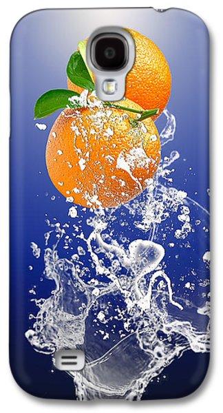 Orange Splash Galaxy S4 Case by Marvin Blaine