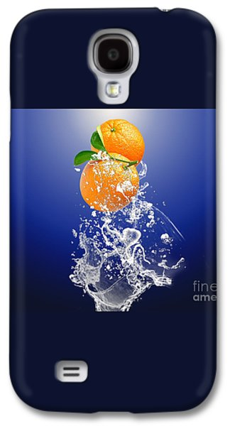 Orange Splash Galaxy S4 Case by Marvin Blaine