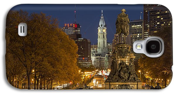 Downtown Franklin Galaxy S4 Cases - Philadelphia Skyline Galaxy S4 Case by John Greim