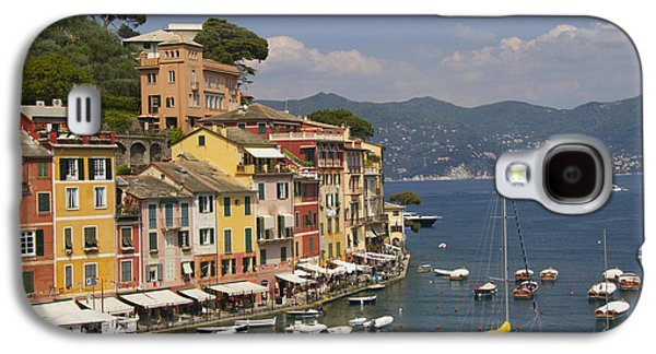 Historic Ship Galaxy S4 Cases - Portofino in the Italian Riviera in Liguria Italy Galaxy S4 Case by David Smith