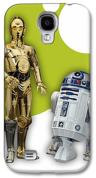 Star Wars C3po And R2d2 Collection Galaxy S4 Case by Marvin Blaine