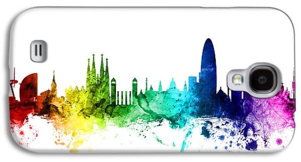 Barcelona Spain Skyline Galaxy S4 Case by Michael Tompsett