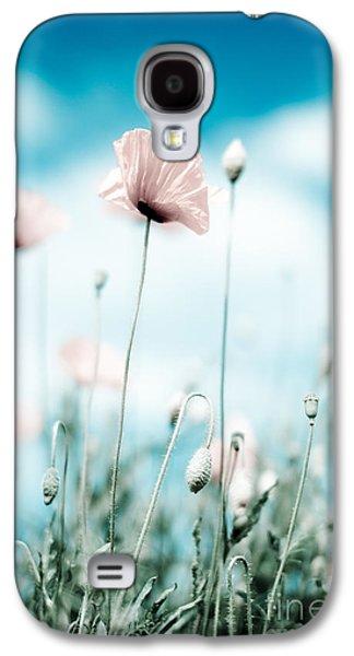 Corn Poppy Flowers Galaxy S4 Case by Nailia Schwarz